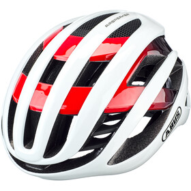 ABUS AirBreaker Fietshelm, white/red